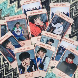 Card Undivided Wanna One và các thành viên.