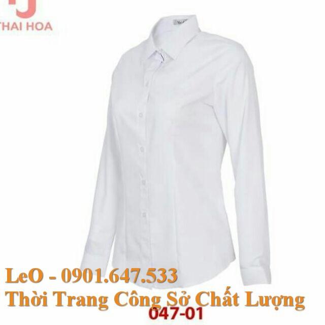Áo Sơ Mi Thái Hòa - Màu trắng (chất vải cực tốt)