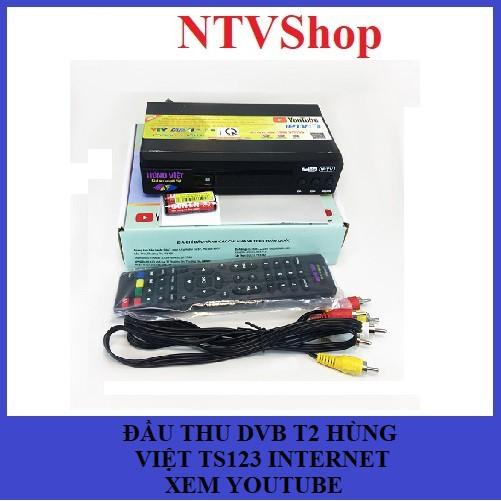 Đầu thu KTS DVB T2 Hùng Việt TS123 Internet New xem Youtube