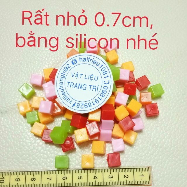 5 viên thạch trà sữa size nhỏ silicon charm slime