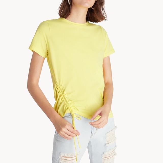 New เสื้อแบรนด์ pomelo สีเหลือง มีเชือกรูดชายเสื้อ