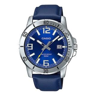 [Mã FARSBR153 giảm 15% đơn 150K] Đồng hồ nam dây da Casio MTP-VD01L-2BVUDF chính hãng