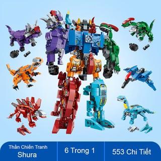 Bộ Đồ Chơi Lắp Ráp Kiểu LEGO Robot Biến Hình Thần Chiến Tranh Shura 6 trong 1 Model 1414 ENLIGHTEN 553 Mảnh Ghép