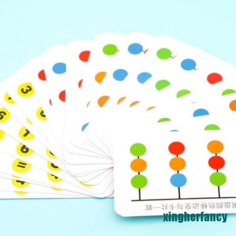 XYCC Colors and Fruits Double Sided Matching Game Logical Reasoning Training Kids Toy XJSS