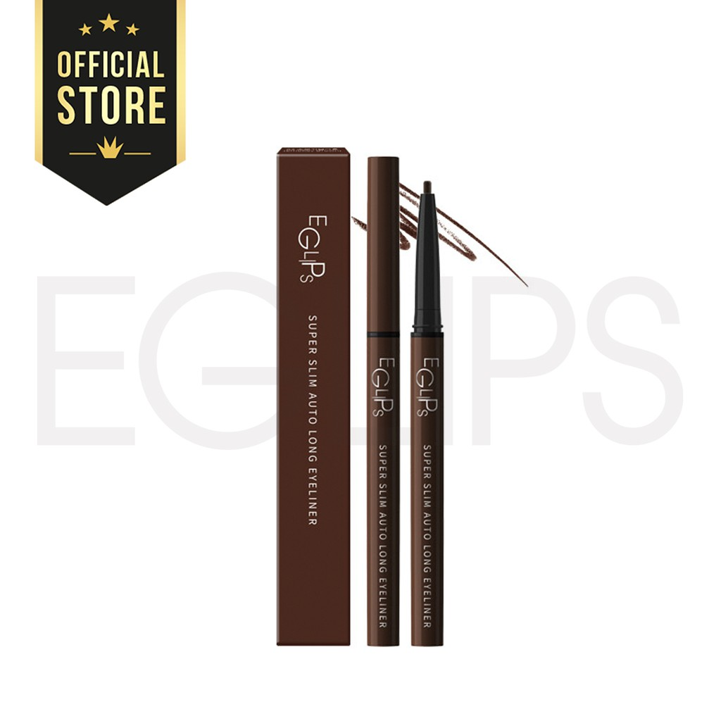 Kẻ mắt Eglips Super Slim Auto Long Eyeliner - #S2 Smoky Brown
