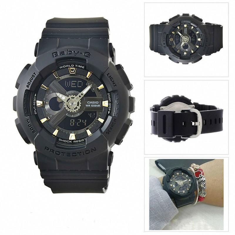 Đồng hồ dây nhựa Casio Baby-G Nữ BA-110GA-1ADR chính hãng bảo hành 5 năm Pin trọn đời