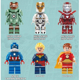 Bộ mô hình nhân vật siêu anh hùng DECOOL 0244-0249