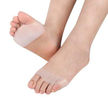 Cặp lót giày xỏ ngón bằng silicon êm ái mẫu mới ra chống trơn tốt