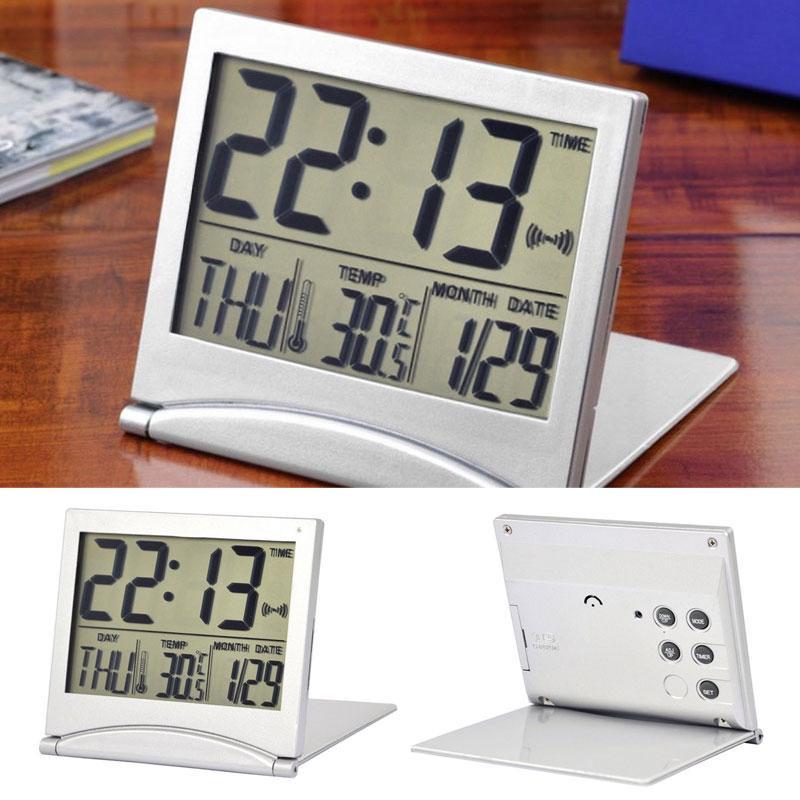 Đồng hồ báo thức hiển thị nhiệt độ/lịch với màn hình LCD chất lượng cao