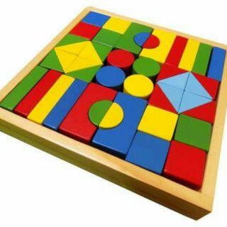 Bộ xếp hình gỗ 44 CT Edugames