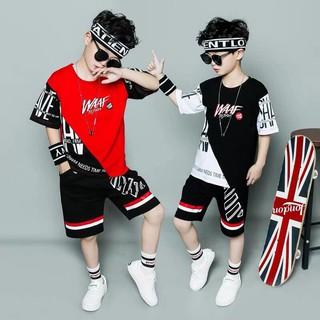 Bộ đồ bé trai Set quần áo bé trai 5 - 14 tuổi, chất liệu cotton mát, phong cách cực cá tính thumbnail