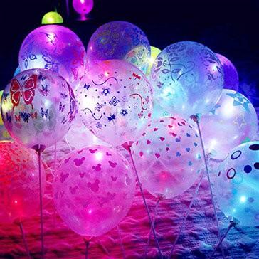 combo 5 bóng bay phát sáng nhiều màu