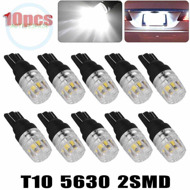 Set 10 bóng đèn LED cho biển số xe màu trắng W5W 168 194 2825 công suất lớn