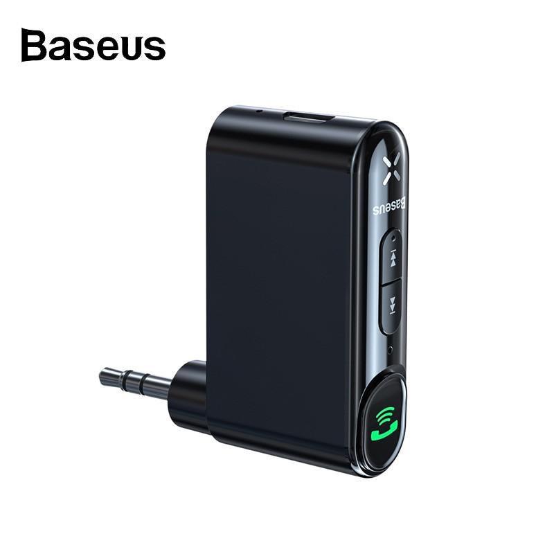 Bộ thu phát tín hiệu/ nhạc không dây Bluetooth Baseus tích hợp giắc cắm 3.5mm cho xe hơi