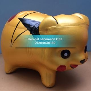 Heo đất handmade pikachu size XL
