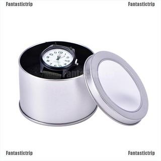 Hộp kim loại bạc trưng bày đồng hồ đeo tay