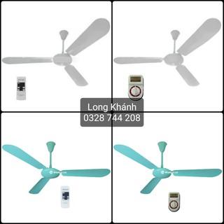 Quạt trần Vinawind - QT1400-X (khiển xa) và QT1400-S (hộp số), sải cánh 140cm, quạt Điện cơ Thống Nhất