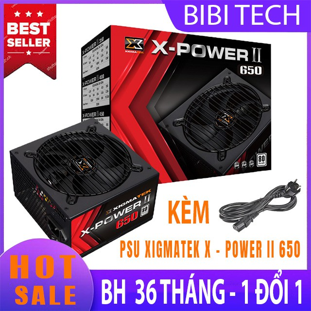 Nguồn máy tính Xigmatek ⚡ Freeship ⚡ X Power II 650 80 Plus 600W Chính hãng Bảo Hành 36 Tháng - BiBiTechs