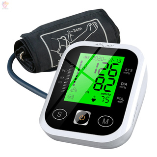 ET Arm Type Sphygmomanometer Automatic Upper Arm Electronic Blood Pressure Monitor LCD Digital Intelligent Measuring Instruments with Tri-color Lighting 2 Users 99 Groups Data Storage Portable