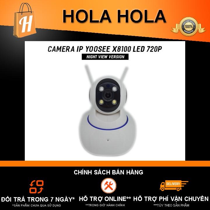 Camera IP Yoosee X8100 Night View Version Led 720P 1080P Quay màu ban đêm