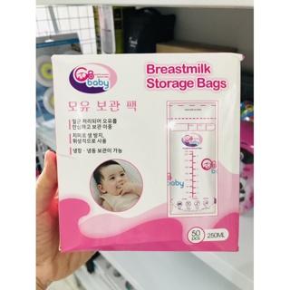 Hộp 50 túi trữ sữa mẹ 250ml GB Baby (Hàn Quốc)