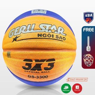 Banh bóng rổ dán Gerustar 3X3 PU GS-3300 ( Quả Banh bóng rổ số 6 ) thumbnail
