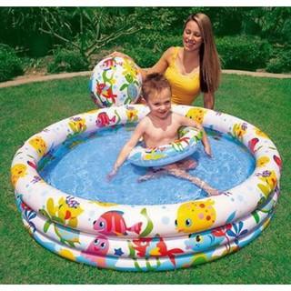 Bể bơi INTEX (1m32, kèm bóng + phao) – N1