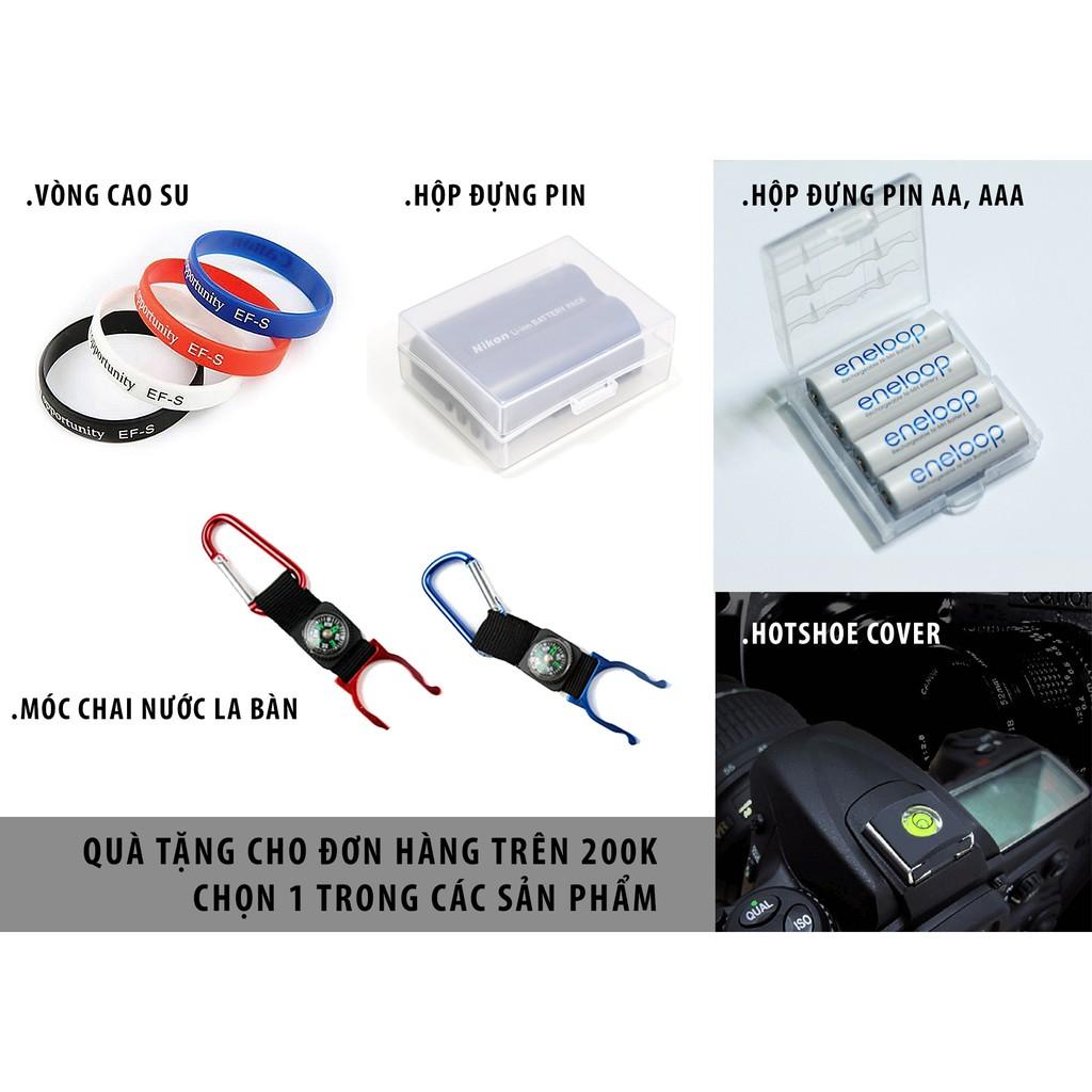 Phụ kiện DSLR: túi đựng filter, đựng lens, cap trước sau, tripod mini, bút lau lens!