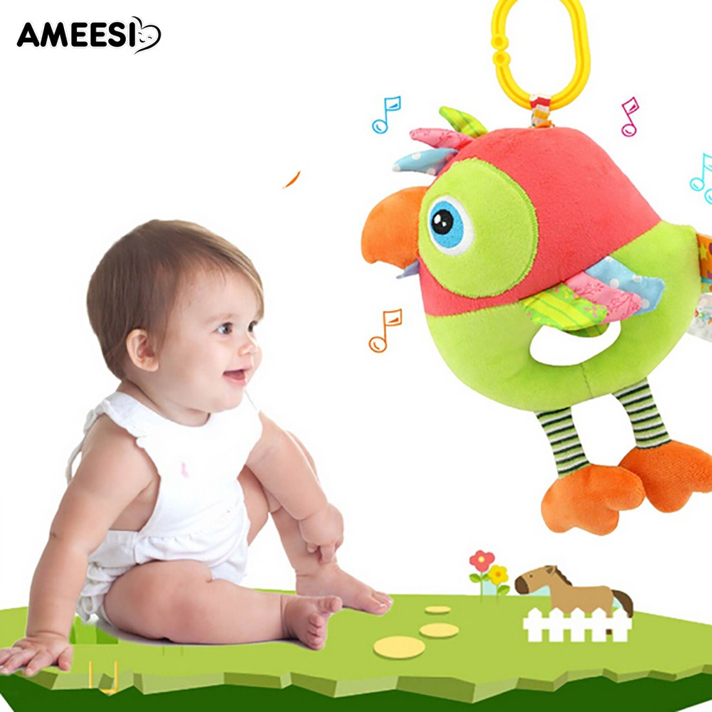 🔅🔆AMEESI  Duck Owl Bird Baby Crib Hanging Doll Wind Bell Rattle Toy