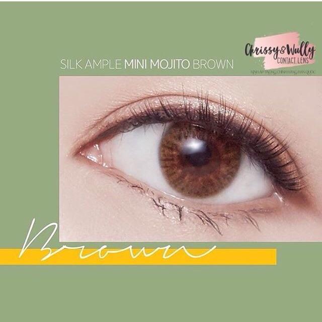 [Nhập Hàn Quốc chính hãng] Kính áp tròng Mini Mojito by Lens me màu Nâu. Có sẵn nhiều độ.
