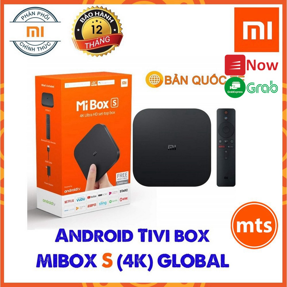 Android Tivi MIBOX S 4K GLOBAL 2020- Mi box S 4K Quốc Tế Model MDZ-22-AB BH 12 THÁNG tại Digiworld