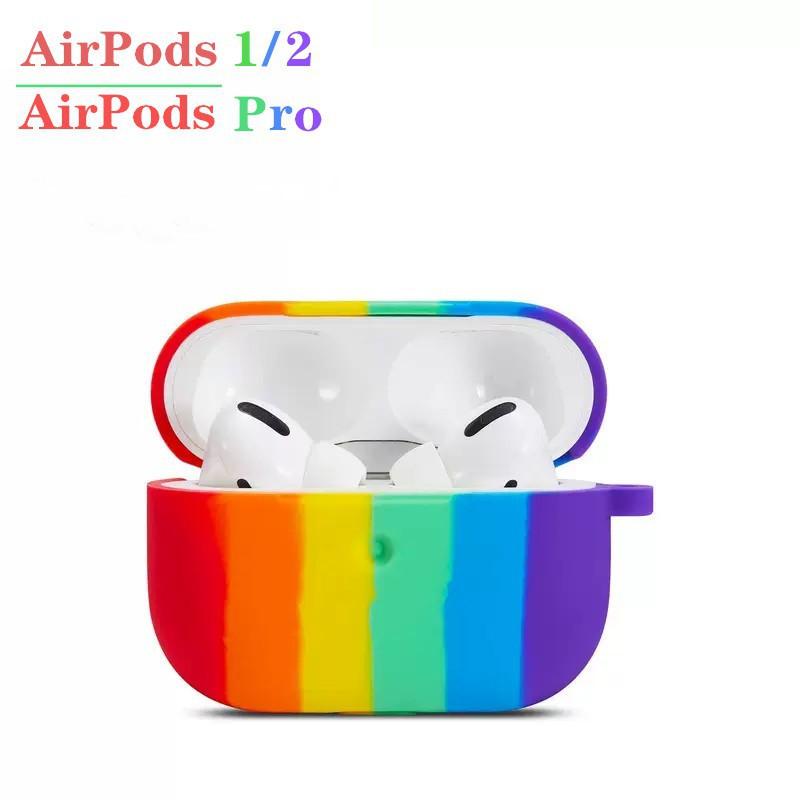 Vỏ bảo vệ cho hộp sạc tai nghe Airpods 1/2 chất liệu silicon tiện dụng