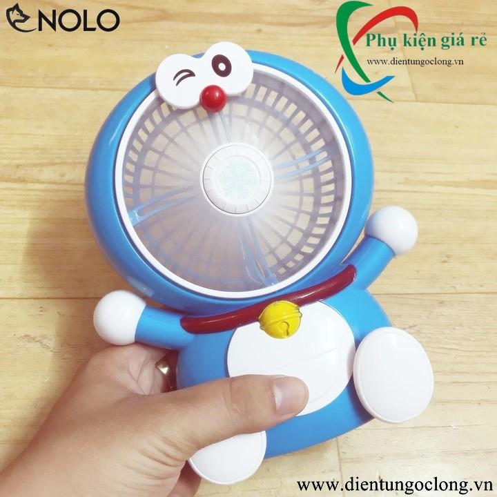 Quạt Mini Để Bàn Doremon Fan SQ1882 Pin Sạc 2 Tốc Độ Gió Siêu Mát