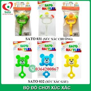 Đồ chơi XÚC XẮC SATO CẦM TAY cho trẻ sơ sinh (Sato031-032)