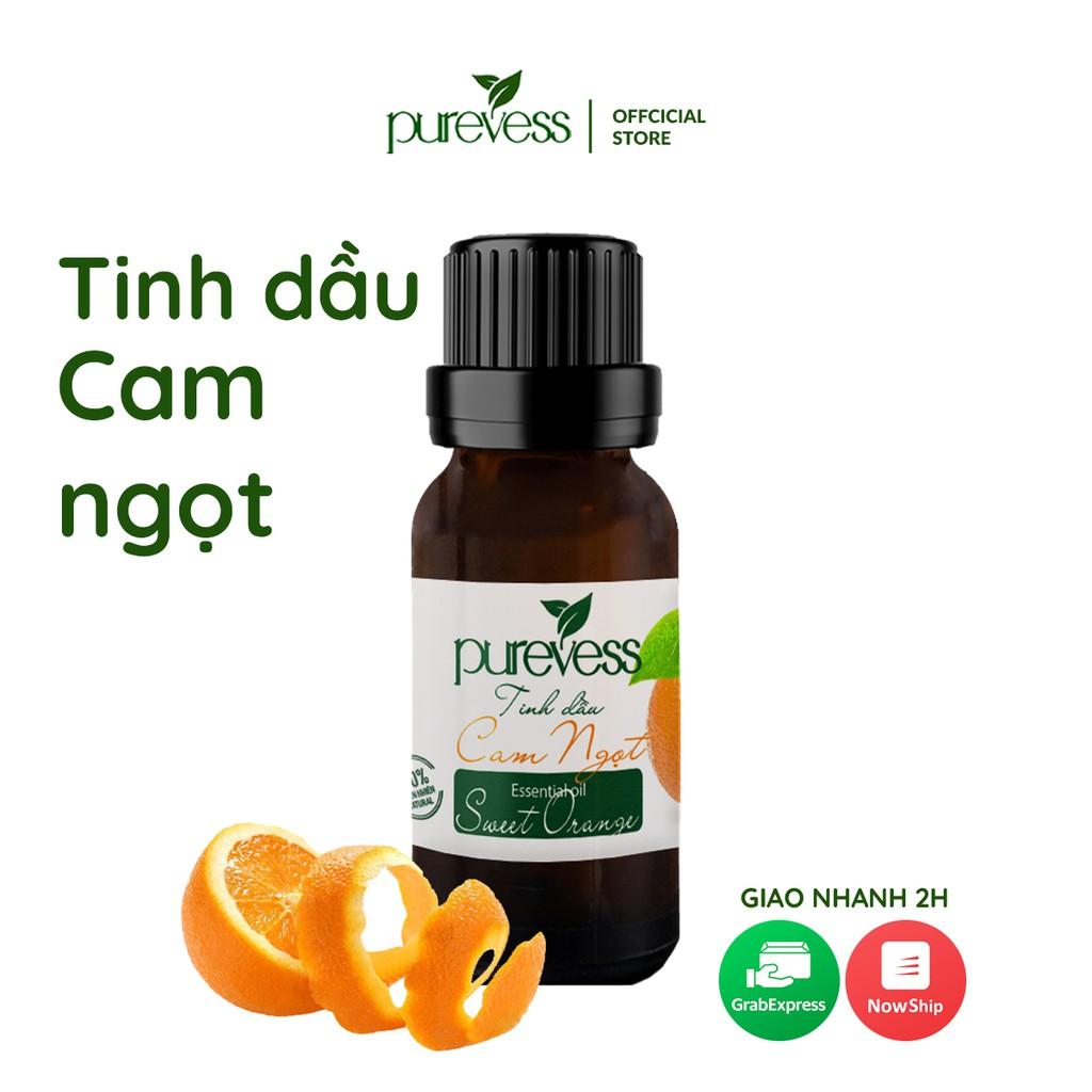 Tinh dầu Cam Ngọt Purevess, thiên nhiên nguyên chất, giúp thư giãn và sảng khoái tinh thần. 20ml