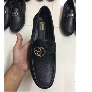 Giày lười nam da thật (da bò)