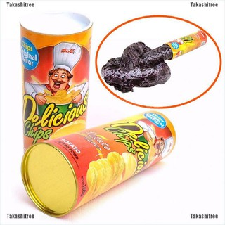 Takashitree✪1 Pcs Trick Potato Chip Can Novelty Joke Prank Jump Snake Funny Tricky Toys