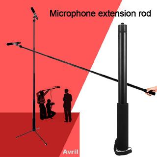Accessories Black Portable Telescopic 3/8inch Connector Conference Aluminum Alloy Microphone Extension Boom