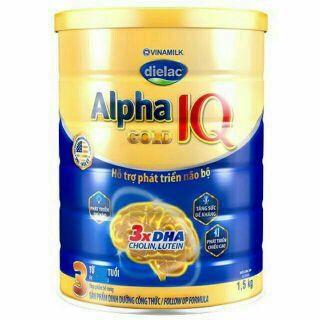 Sữa Dielac Alpha Gold IQ 3 1.5kg (Date Tháng 11.2020)