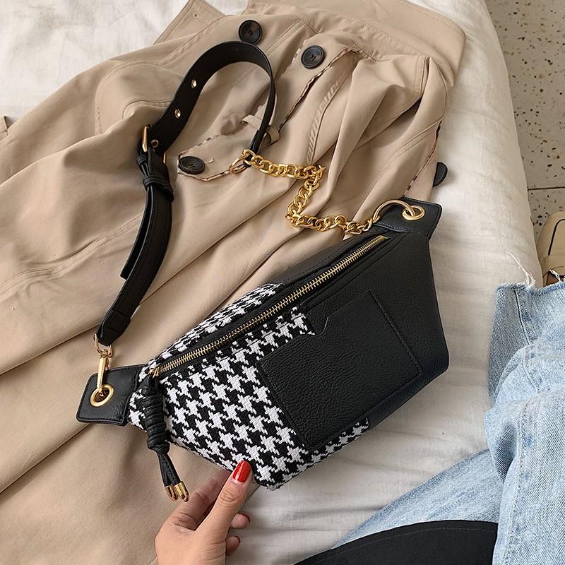 【จัดส่งฟรี】น้าอกกระเป๋าถือกระเป๋า 2019 กระเป๋าแฟชั่นใหม่ Messenger ไหล่ป่ายอดนิยม