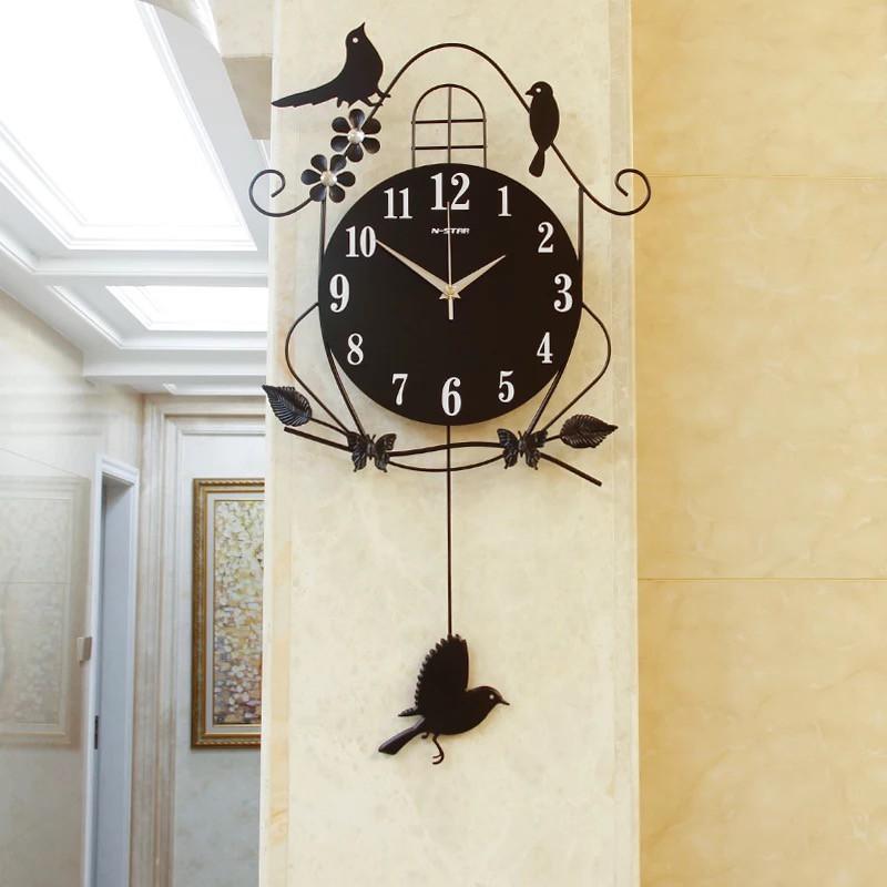 Đồng hồ treo tường quả lắc ĐÀN CHIM VÂY TỔ ẤM