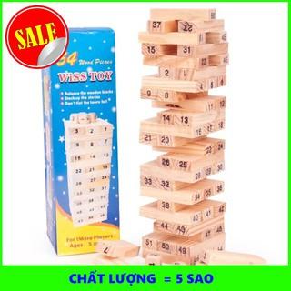 [FLASH SALE] Combo 2 Bộ đồ chơi rút gỗ 54 thanh luyện trí thông minh