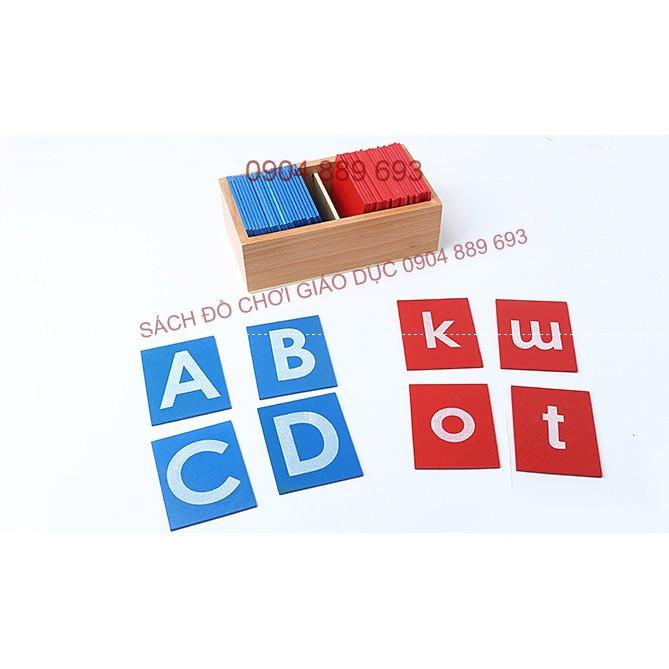 Bộ chữ cái in nhám, chữ cái thường nhám - Giáo cụ montessori