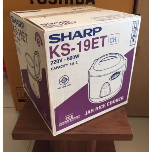 Nồi Cơm Điện 1.8 lít Sharp KS-19ET -Hàng Nhập Thái Lan