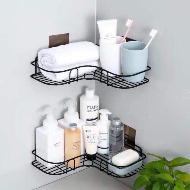 Kệ góc nhà tắm bằng sắt không gỉ chắc chắn tiện lợi