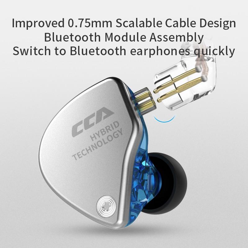 CCA CA4 In 1DD+1BA Ear Earphones Monitor Metal Hybrid Technology Hifi Bass Earbuds Sport Noise Earphone Cancelling Headset ZAX