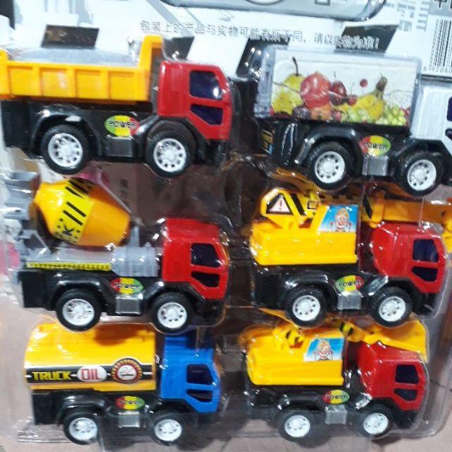 Bộ đồ chơi xe công trình 6 món từ Mêka cao cấp.