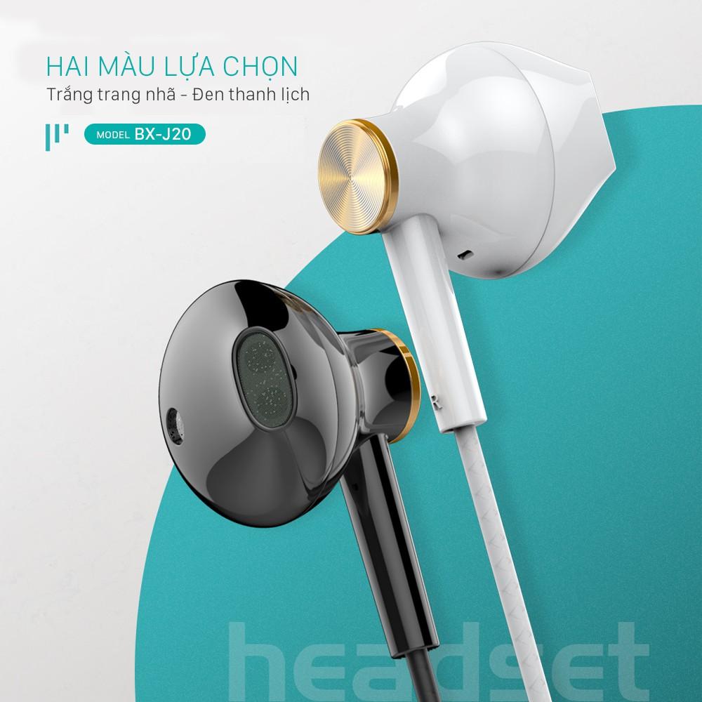 Tai nghe JUYUPU M2 nhét tai chống ồn jack 3.5mm chính hãng cho iPhone  Samsung OPPO VIVO HUAWEI XIAOMI tai nghe có dây