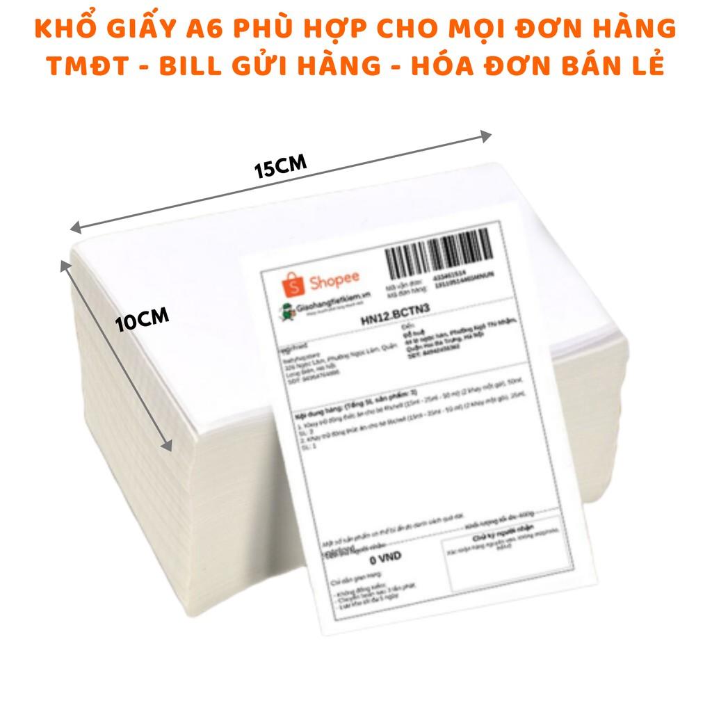 Giấy in nhiệt Shoptida 3000 tờ A6 10*15cm 3 lớp tự dán chống nước, sử dụng cho máy in nhiệt Shoptida SP46