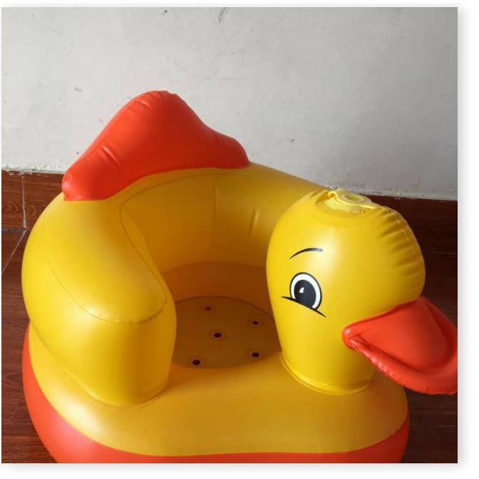Đồ dùng cho bé   1 ĐỔI 1   Ghế hơi tập ngồi cho bé có lỗ thoát khí - Ghế hơi cho bé ngồi ăn dặm, chống gù lưng 7093